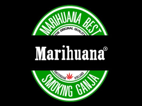 Marihuana Beer Logo Black