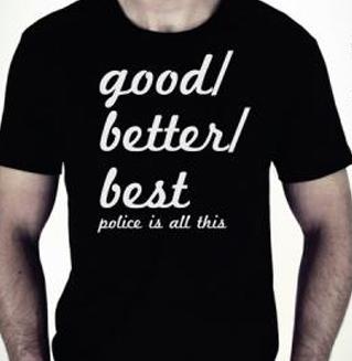 Authentique T-Shirt Marque Police Noir à Manches Courtes