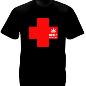 Tshirt Noir Herbe Médicinale Medical Hemp