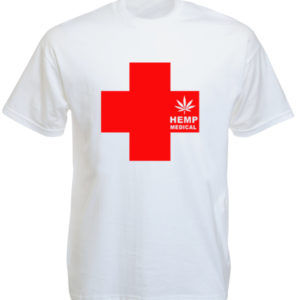Tshirt Blanc Herbe Médicinale Medical Hemp
