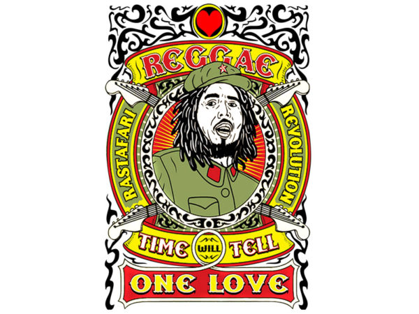 Tshirt Blanc Rastafari Revolution Soul Rebel