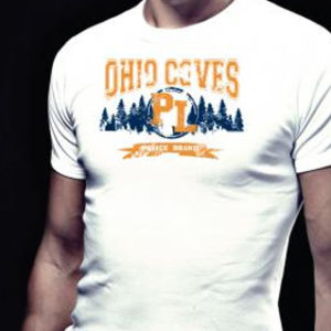 Homme Tee Shirt Blanc Police Ohio Coves Manches Courtes