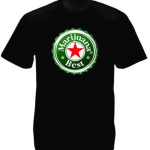 Imitation Humoristique Tshirt Noir Logo Capsule Bière Heineken