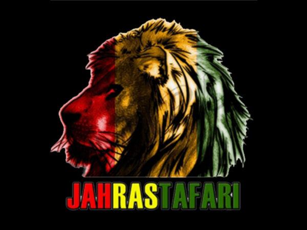 Jah Rastafari Tee Shirt Noir Manches Courtes Homme Empereur Haïlé Sélassié