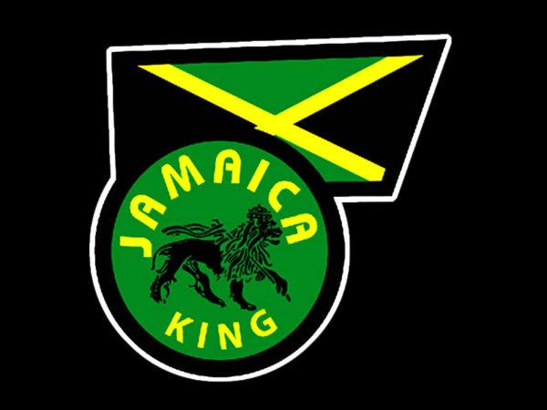 T-Shirt Noir en Coton Lion Roi de la Jamaïque pour Homme