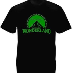 Paramount Tee Shirt Noir Manches Courtes Homme Cannabis