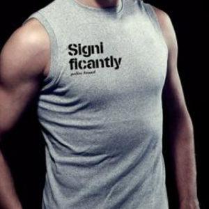 Police Tee Shirt Gris Sans Manche pour Homme en Coton