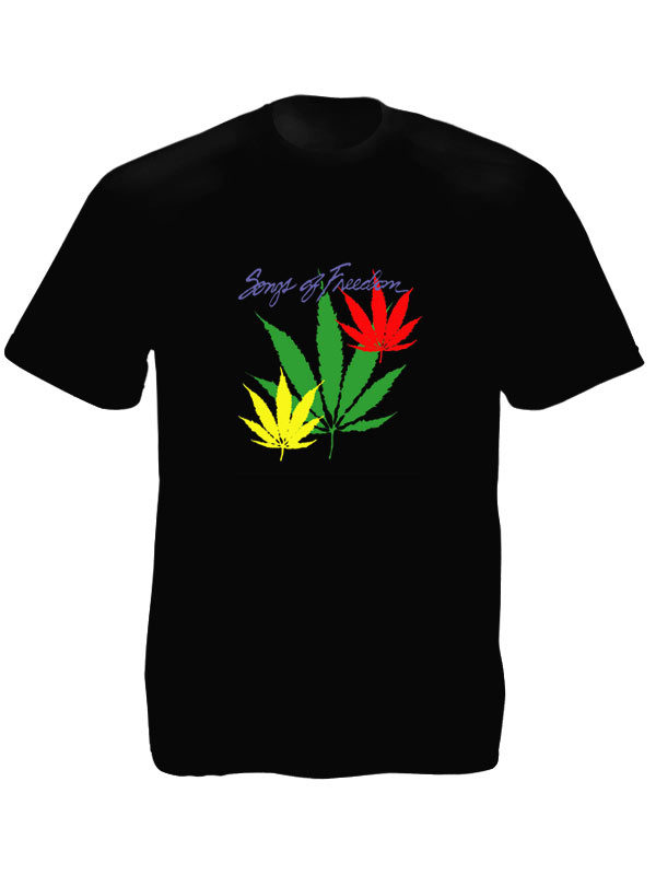 T-shirt Noir en Coton Songs of Freedom de Bob Marley