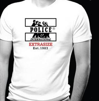 T-Shirt Blanc Classique Imprimé Police Col Rond Manches Courtes
