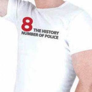 T-Shirt Blanc de Marque Police Nouvelle Collection Printemps Eté