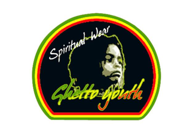 Tee Shirt Blanc Ghetto Youth Rastafari Spiritual Wear à Manches Courtes