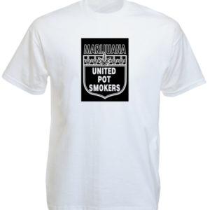 T-Shirt Blanc Manches Courtes Cannabiculteurs United Pot Smokers
