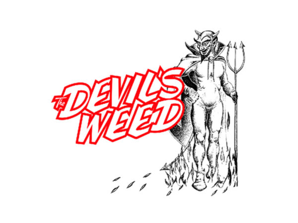 T-Shirt Blanc Manches Courtes The Devil's Weed l'Herbe du Diable
