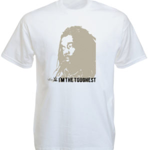T-Shirt Blanc Peter Tosh à Manches Courtes « I'm The Toughest »