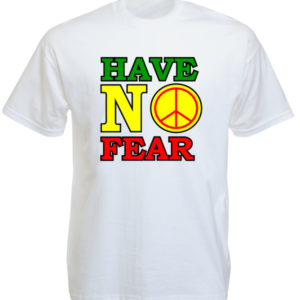 T-Shirt Blanc Reggae Have No Fear Dennis Brown à Manches Courtes
