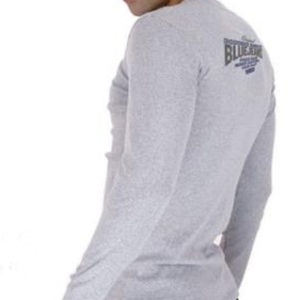 T-Shirt Chic Police Gris Homme Manches Longues Taille L
