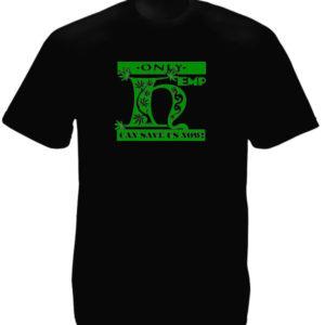 T-Shirt Noir Homme Ecolo pour Utilisation du Chanvre et Cannabis
