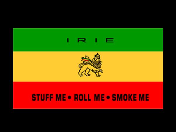 Tee Shirt Noir Irie Esprit Rasta Jamaïque Coton Homme