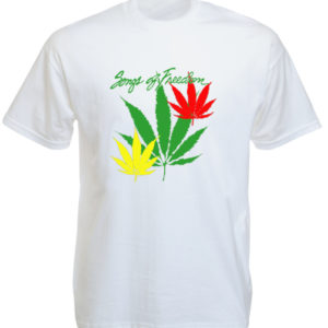 T-Shirt Blanc Bob Marley à Manches Courtes Songs of Freedom
