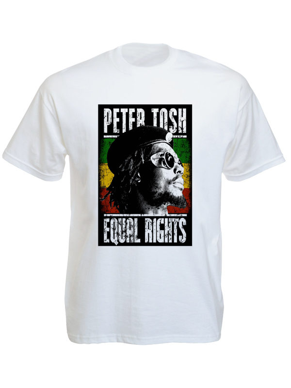 T-Shirt Blanc Peter Tosh Equal Rights à Manches Courtes