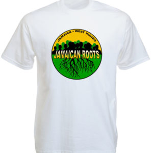 T-Shirt Blanc Rasta Jamaica Roots à Manches Courtes