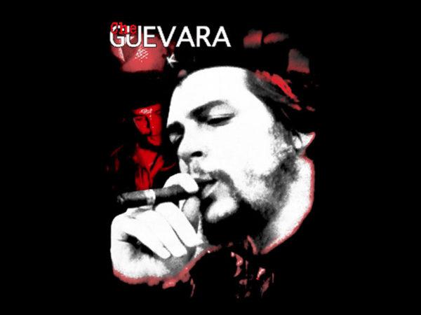 T-Shirt Che Guevara en Noir à Manches Courtes Pour Homme