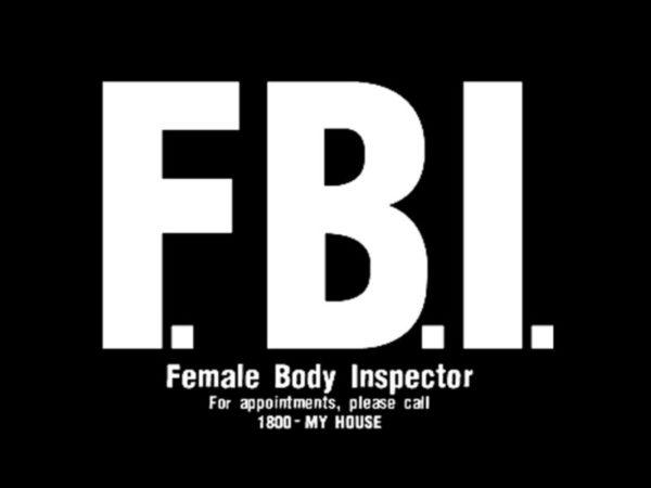 T-Shirt Noir Manches Courtes FBI Humour pour Homme