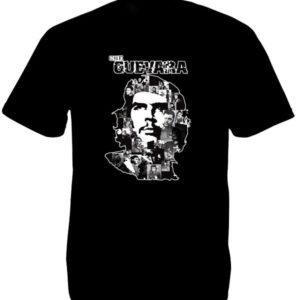 T-Shirt Noir Manches Courtes Photos Artistiques de Che Guevara