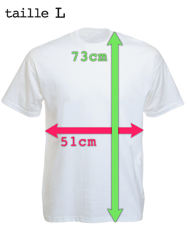 Tee-Shirt Police Blanc Classique Manches Courtes Taille Large