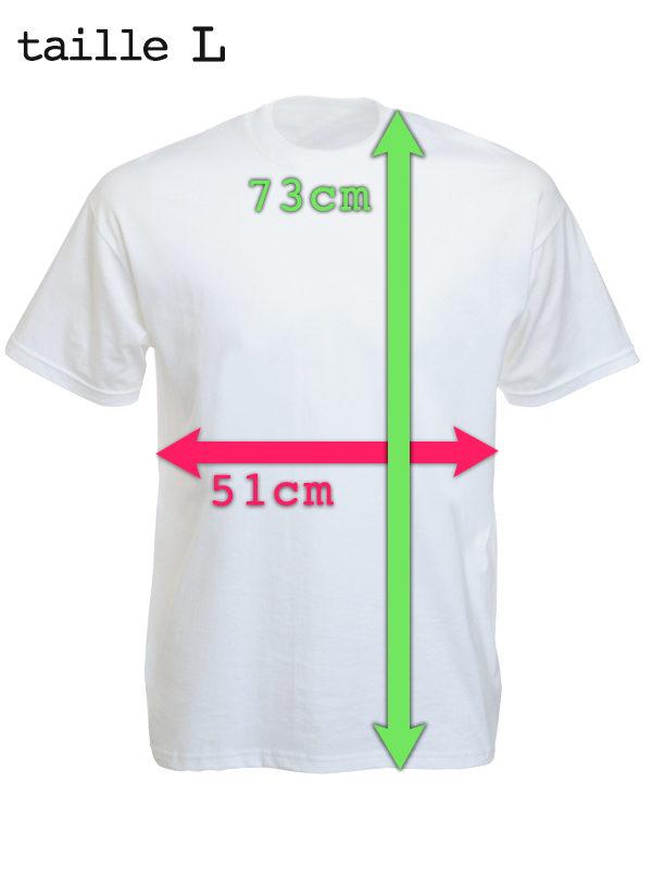 T-Shirt Blanc Humour en Coton avec Imprimé Hippie Rasta