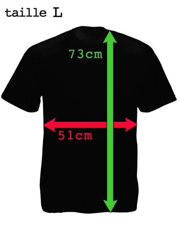 Tee Shirt de Police Couleur Noire Coupe Ajustée Homme Taille L