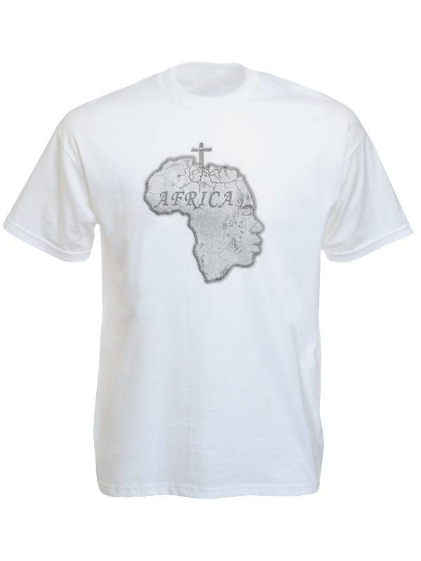 T-Shirt Blanc Rasta à Manches Courtes Retour aux Racines de l'Afrique