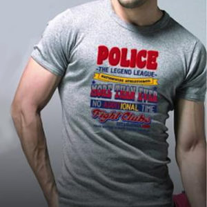 Tee Shirt Gris de Police Coton Extra Doux Collection Bodysize