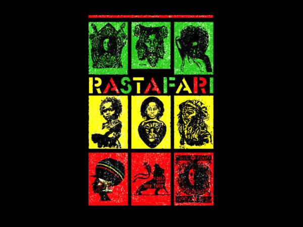 Tee Shirt Noir Manches Courtes Rastafari Ethnique Style Afro