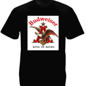 Tee Shirt Noir Coton Homme Aigle Budweiser Beer