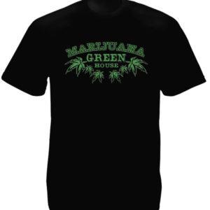 Tee Shirt Noir Coton Homme Cultivateur de Cannabis en Intérieur