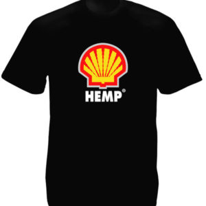 Tee Shirt Noir Homme Humour Pub Shell Coquillage Chanvre