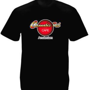 Tee Shirt Noir Manches Courtes Logo Coffee Shop Amsterdam