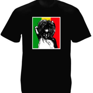 Tee Shirt Noir Manches Courtes Petite Fille Rasta Africaine
