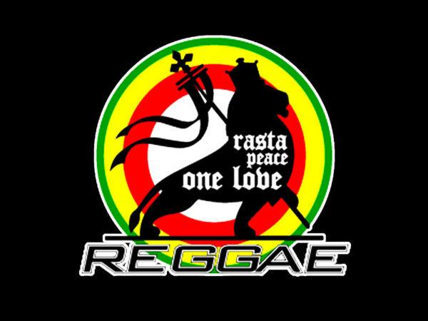 Tee Shirt Noir Reggae à Manches Courtes Rasta Peace One love