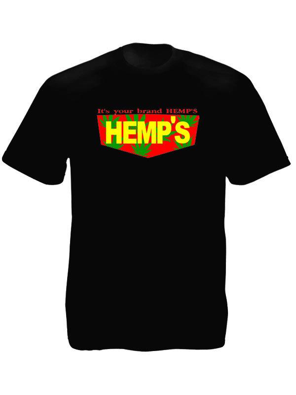 Tee Shirt Taille L Couleur Noire Hemp Chanvre Cannabis