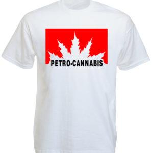 Tshirt Blanc Manches Courtes Petro Canada Cannabis