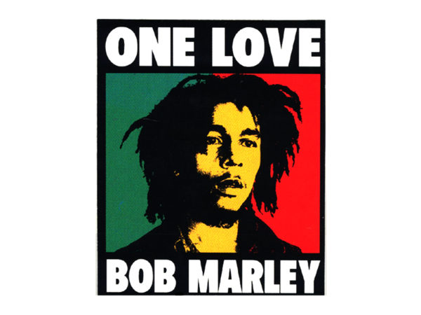 Tee Shirt Blanc Reggae Image Pop Art Bob Marley One Love