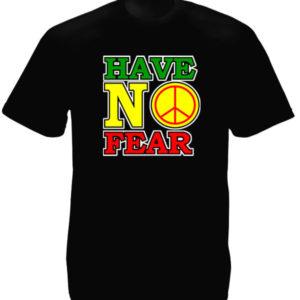 Tshirt Noir Coton Musique Reggae Signe Peace and Love