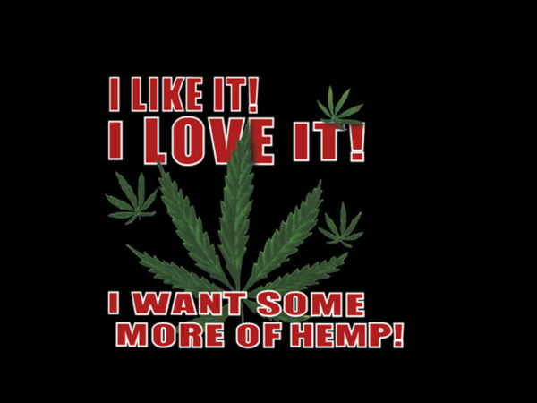 T-Shirt Noir en Coton Manches Courtes J'aime le Cannabis