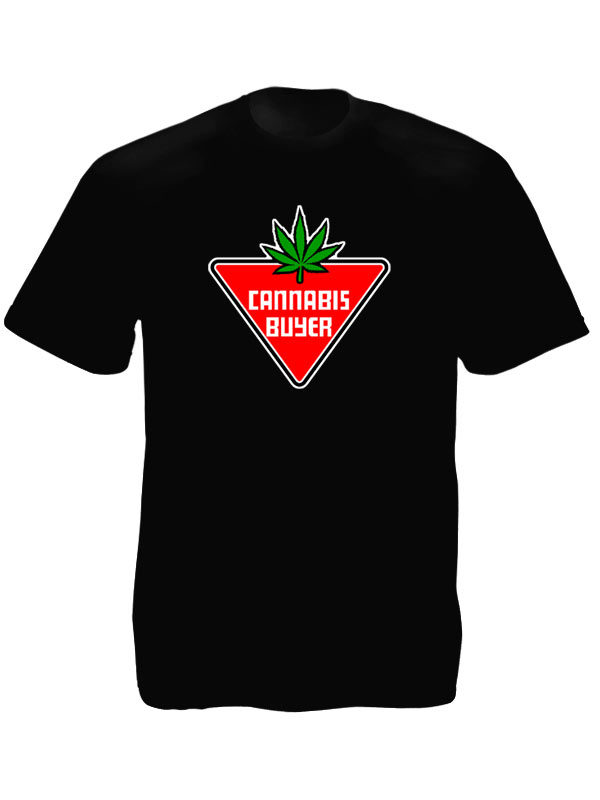 Tshirt Noir en Coton pour Homme Spécial Fumeur de Joint