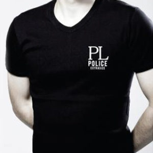 Tshirt Noir Homme PL Police Extrasize Manches Courtes