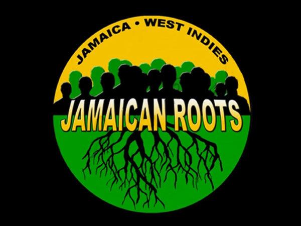 T-Shirt Noir pour Homme en Coton Jamaica Roots Racines de la Jamaïque